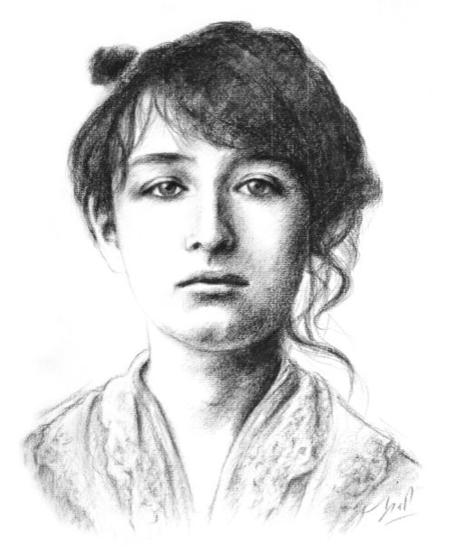 Camille Claudel dessin d'Isabelle Milloz